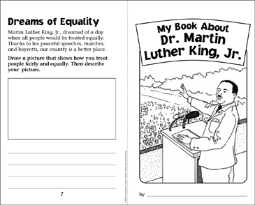 My Book About Dr. Martin Luther King, Jr. - Printable Worksheet