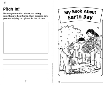 My Book About Earth Day - Printable Worksheet