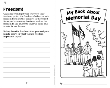 My Book About Memorial Day - Printable Worksheet