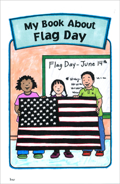 My Book About Flag Day - Printable Worksheet