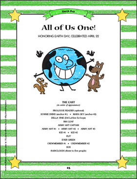 All of Us One: U.S. Civic Holidays Read-Aloud Play - Printable Worksheet