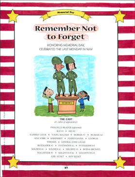 Remember Not to Forget: Memorial Day Read-Aloud Play - Printable Worksheet