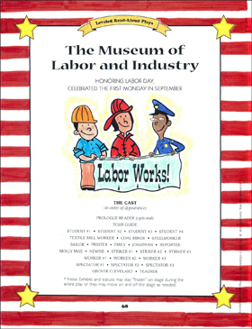 The Museum of Labor and Industry: U.S. Civic Holidays Read-Aloud Play - Printable Worksheet