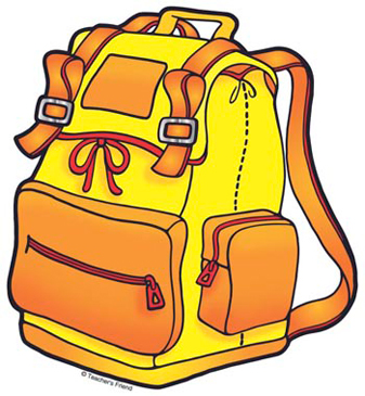 Yellow Backpack - Image Clip Art