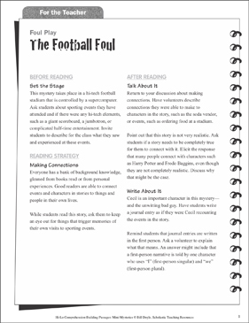 The Football Foul (Making Connections): Hi-Lo Comprehension-Building Mini-Mysteries - Printable Worksheet