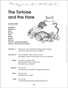The Tortoise and the Hare: Folktale Play - Printable Worksheet
