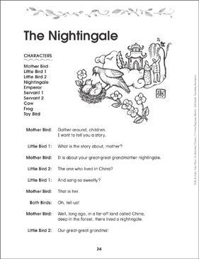 The Nightingale: Fairy Tale Play - Printable Worksheet