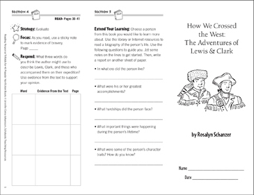 How We Crossed the West: Reading Response Trifold - Printable Worksheet