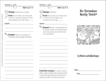Do Tornadoes Really Twist? Reading Response Trifold - Printable Worksheet