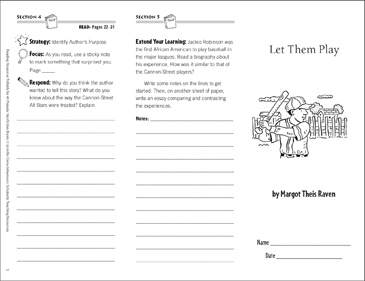 Let Them Play: Reading Response Trifold - Printable Worksheet