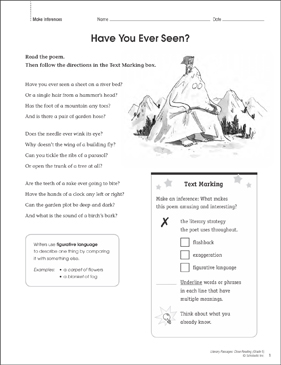 Have You Ever Seen?: Close Reading Passage - Printable Worksheet