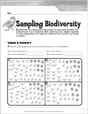 picture relating to Biodiversity Printable Worksheets identify Sampling Biodiversity: A Daily life Science Journaling Sport