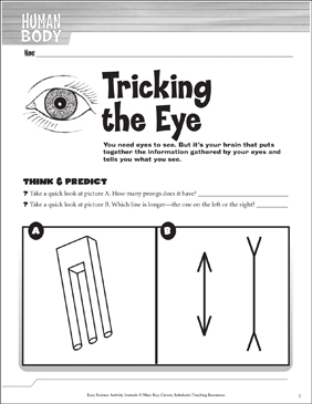 Tricking the Eye: A Life Science Journaling Activity - Printable Worksheet
