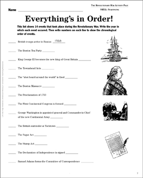 image about American Revolution Printable Worksheets named The Impressive War: Carry-the-Flap Timeline Printable