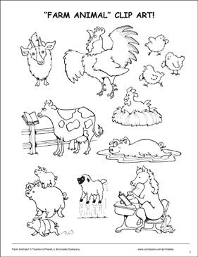 image regarding Printable Farm Animals titled Farm Pets: Matching Shadows Printable Techniques Sheets