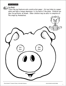 graphic relating to Printable Pig Mask called Pig: Mask Behavior Printable Arts and Crafts