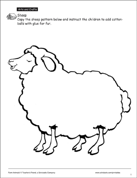 graphic about Printable Sheep Pattern named Sheep Habit Printable Arts, Crafts and Expertise Sheets