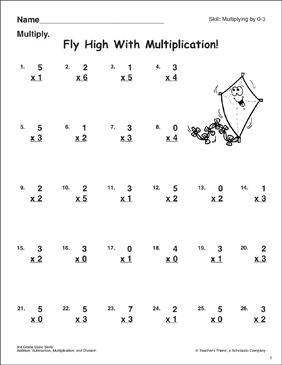 Flying High With Multiplication (Multiplying By 0-3 ...