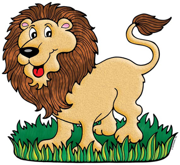 Lion in Grass - Image Clip Art