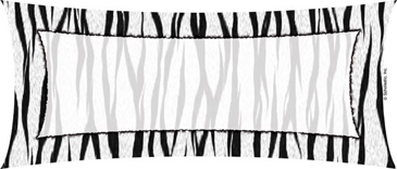 Rectangle With Animal Print Border - Image Clip Art