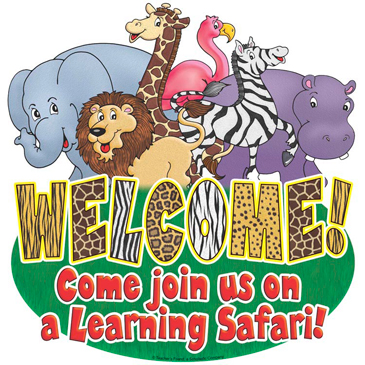 Welcome! Come join us on a Learning Safari! - Image Clip Art