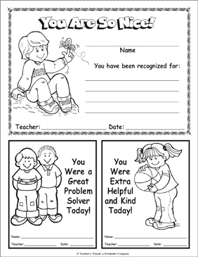 You Are So Nice - Printable Worksheet