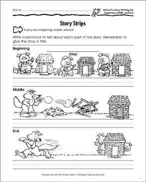 photo relating to Printable Sentence Strips named Tale Strips (Composing a Storys Setting up, Center, and Conclude