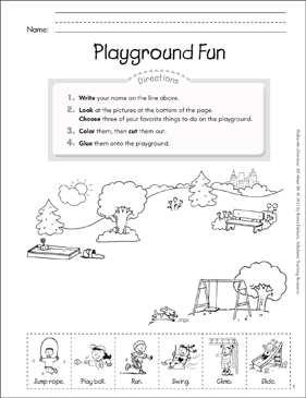 Playground Fun: All About Me - Printable Worksheet