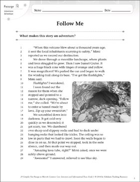 Follow Me: Text & Questions - Printable Worksheet