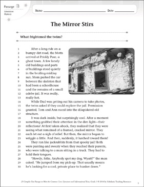 The Mirror Stirs: Text & Questions - Printable Worksheet