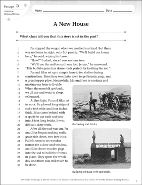 A New House: Text & Questions - Printable Worksheet