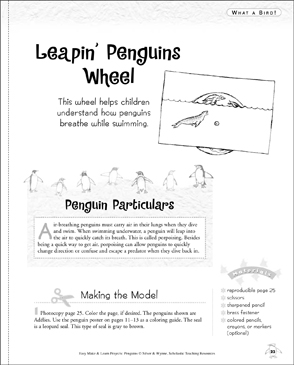 Leapin' Penguins Wheel: Make & Learn Project - Printable Worksheet
