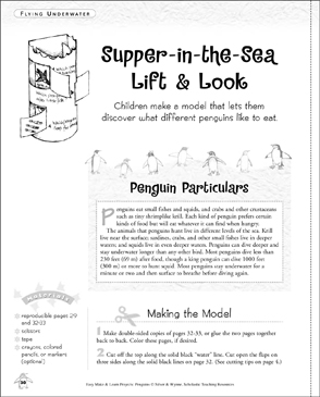 Supper-in-the-Sea Lift & Look: Make & Learn Project - Printable Worksheet