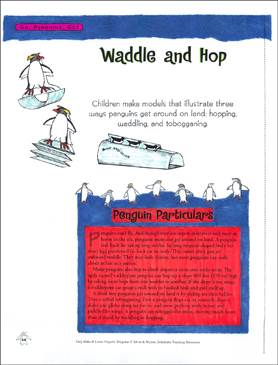 Waddle and Hop: Make & Learn Project - Printable Worksheet
