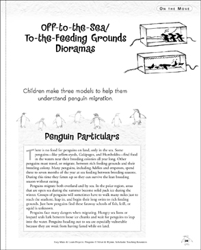 Off-to-the-Sea/To-the-Feeding Grounds Dioramas: Make & Learn Project - Printable Worksheet