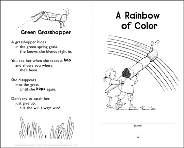 A Rainbow of Color - Printable Worksheet