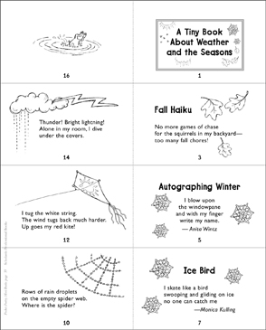 A Tiny Book About Weather and the Seasons - Printable Worksheet