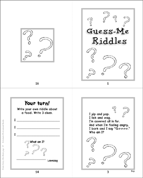Guess-Me Riddles - Printable Worksheet