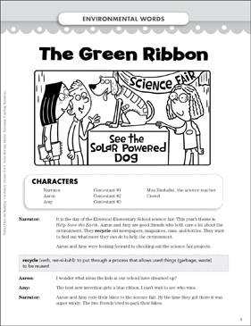 The Green Ribbon (Environmental Words): Play - Printable Worksheet