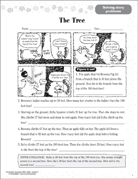 The Tree (Solving Story Problems) - Printable Worksheet