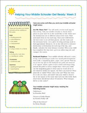 Week 2: Summer Express Between Grades 6 and 7 - Printable Worksheet