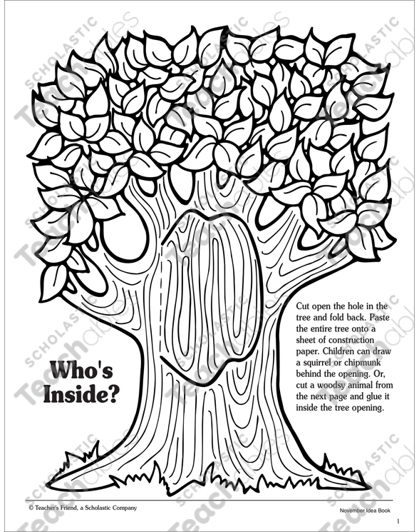 Whos Inside Tree And Woodsy Animal Patterns