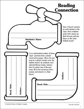 Reading Connection Pipe Pattern - Printable Worksheet