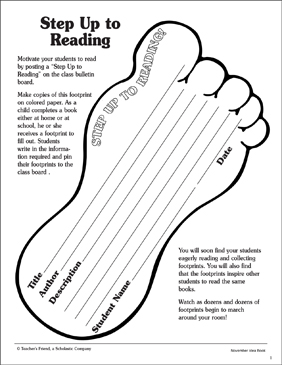 Step Up to Reading: Pattern and Activity - Printable Worksheet