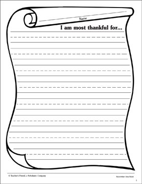 picture relating to Lined Stationery Printable known as What I am Grateful For..: Stationery Printable Included
