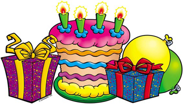 Cake and Presents - Image Clip Art
