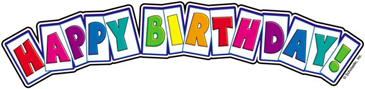 Happy Birthday! - Image Clip Art