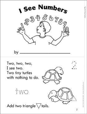 I See Numbers: Math Mini-Book - Printable Worksheet