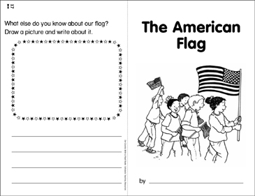 The American Flag: Our Country Write & Read Book - Printable Worksheet