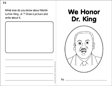 We Honor Dr. King: Our Country Write & Read Book - Printable Worksheet